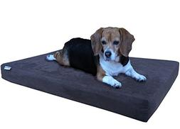 Dogbed4less Medium Large Orthopedic Memory Foam Dog Bed, Was