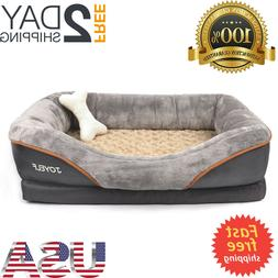 Orthopedic Dog Bed Memory Foam Pet Bed with Removable Washab