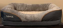 "JOYELF ORTHOPEDIC DOG BED MEMORY FOAM SMALL 27x20"" GRAY BR"