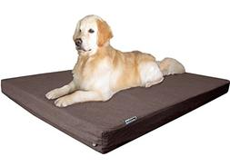 Dogbed4less Premium Orthopedic Memory Foam Dog Bed with Wash