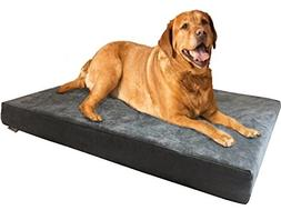 Dogbed4less Orthopedic Gel Memory Foam Dog Bed with Microsue