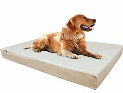 Dogbed4less Extra Large True Orthopedic Memory Foam Dog Bed,