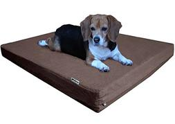 Dogbed4less Orthopedic Cooling Memory Foam Dog Bed with Dura