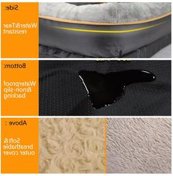 Dog Bed with Washable Cover and Toy Orthopedic Memory Foam 2