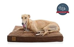LaiFug Orthopedic Memory Foam Pet/Dog Bed  Chocolate) with