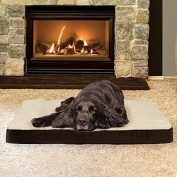 Orthopedic Pet Bed Dog Cat Lounger Deluxe Cushion Plush Foam