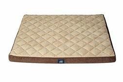 Serta Orthopedic Quilted Pillowtop Dog Bed, X-Large, Brown