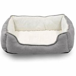 Happycare Textiles Orthopedic Rectangle Bolster Pet Bed, Dog