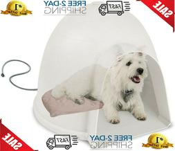 Outside Shelter Igloo Style Bed Heated Outdoor Pet Dog House