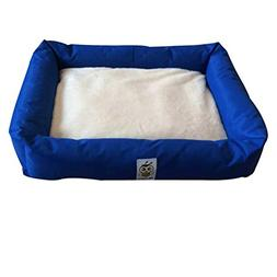 Nunubee Oval Pet Bed Kennel Dog Nest Cat Pad Waterloo Blue G