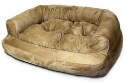 Snoozer Overstuffed Luxury Pet Sofa, X-Large, Coffee