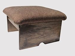 """Padded Foot Stool, Doggie Step, Cocoa Brown, 10"""" Tall, Maple"""