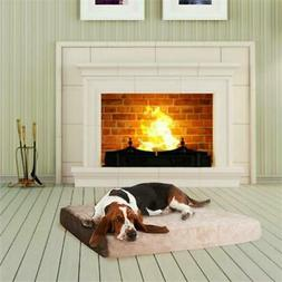 PETMAKER Memory Foam Dog Bed with Removable Cover, Large