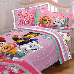 4pc Paw Patrol Twin Bedding Set Best Pup Pals Skye and Evere