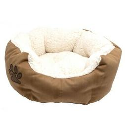 ALEKO PB02S Small Plush Pet Cushion Crate Bed for Dogs Cats