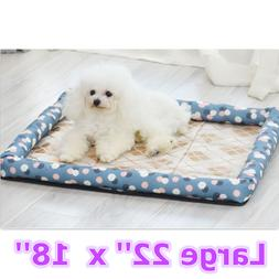 Pet Bed Cushion Mat Pad Dog Cat Kennel Crate Cozy Soft House