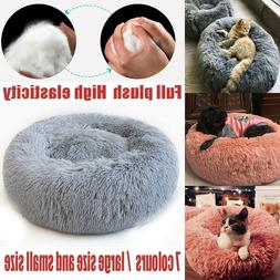 Pet Bed For Cat Dog Calming Marshmallow Small Large XL Soft