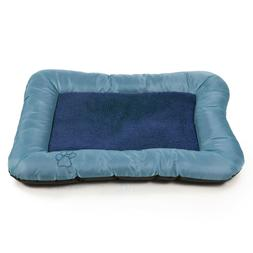 PETMAKER Plush Cozy Pet Crate/Pet Bed, X-Large, Blue