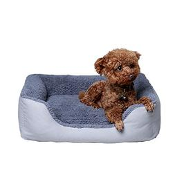 petwe Pet Bed Soft Plush Dog Bed Reversible Bolster Pillow W