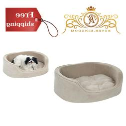 Pet Beds Round For Small Medium Dogs Cat Puppy Comfortable S