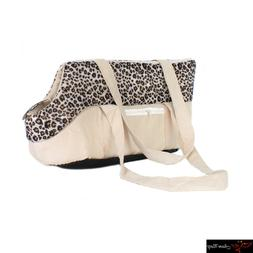 Pet Puppy Dog Cat Carrier Comfort Leopard Travel Tote Kennel