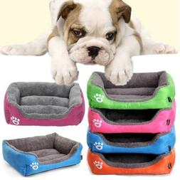 Pet Cat Dog Bed Warm Cushion House Washable Kennel Mat for S