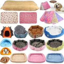 Pet Cat Dog House Kennel Puppy Cave Cushion Bed Soft Mat Pad