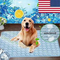 Pet Cooling Mat Cool Gel Pad Comfortable Cushion Bed for Sum