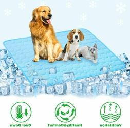 Pet Cooling Mat Non-Toxic Cool Pad Comfortable Bed Cushion F