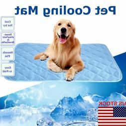 Pet Cooling Mat Non-Toxic Cool Pad Cooling Bed Cusion for Su