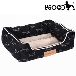 Dog Large Bed Pet Cover Plush Washable Soft Black Sofa Faux