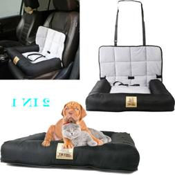Pet Cushion Car Seat Belt Booster Travel Carrier Folding for