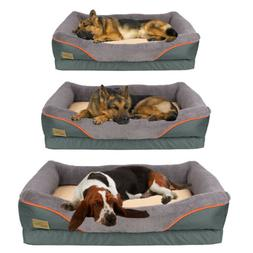 Pet Dog Bed Deluxe Mat Foam Mattress Removable Cover Dogs Ca
