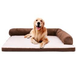 Pet Dog Bed, Jumbo Cushion Soft Plush Removable Corduroy Cov