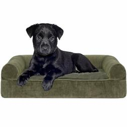 Pet Dog Bed | Orthopedic Sofa-Style Couch Pet Bed for Dogs &