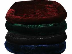 Pet Dog Cat Bed Cushion Mat Velvet Pad Warm Soft House 4 Col