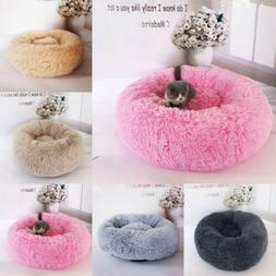Pet Dog Cat Bed Fuzzy Puppy House Pet Soft Warm Kennel Dog M