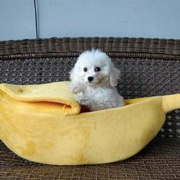 Pet Dog Cat Bed Nest Banana Winter Sleeping Bag Warm Kennel