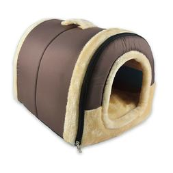 Pet Dog Cat Bed Puppy House & Sofa 2in1 Warm Kennel Mat Pad