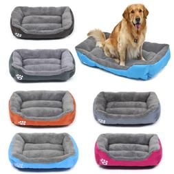 pet dog cat bed soft warm kennel