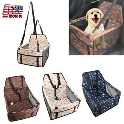 Pet Dog Cat Car Seat Safety Puppy Carrier Basket Travel Bed