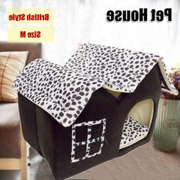 Pet Dog Cat House Soft Beds Cave Cat Puppy Bed Warm House Sl