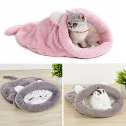 Pet Dog House Puppy Cat Beds Cozy Warm Cave Kennel Bed Hut B