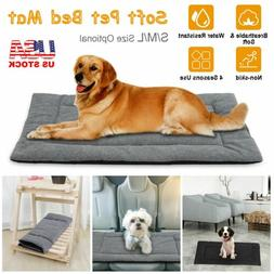 Pet Dog Large Bed Cat Mat Soft Plush Cushion Reversible Wate
