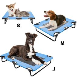 Pet Elevated Cot Dog Bed Folding Raised Pet Lounger Sleeper