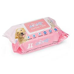 Pet Grooming Wipes  - Natural Alcohol-free Hypoallergenic Ti