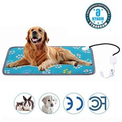 MAZORT Pet Heating Pad Cats and Dogs Safety Electric Heated