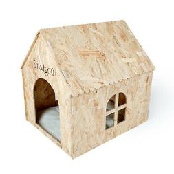 Pet House Eco friendly Nature Wooden Dog Cat House Cave Bed