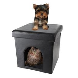PETMAKER Pet House Ottoman- Collapsible Multipurpose Cat Sma