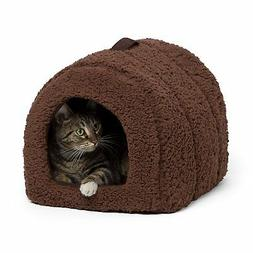 Best Friends by Sheri Pet Igloo Hut, Sherpa, Brown - Cat and